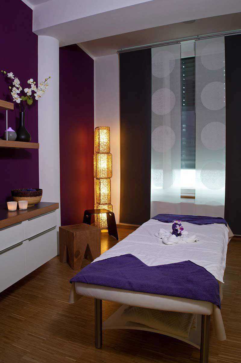 Unsere großzügige Kosmetik- und Massage- Suite